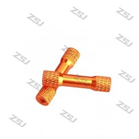 M3*25mm Orange knurled/Texture aluminum step spacer, 4pcs/lot