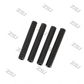 Wholesale M3*26mm Black anodized Aluminum Round Style Knurled / Texture Spacer/Standoff, 4pcs/lot