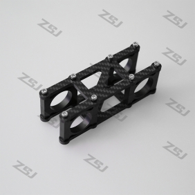 MV007 Famoushobby 3 Axis brushless gimbal-4mm carbon fiber handle bracket with aluminum clamps 1set