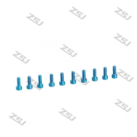 Wholesale 7075 M3X10M  Blue color Socket Aluminum Bolts,cap head aluminum screws for RC Drone / Quadcopters,50pcs/lot