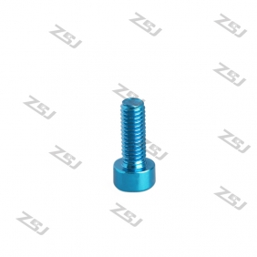 Wholesale 7075 M3X8MM  Blue color Socket Aluminum Bolts,cap head aluminum screws for RC Drone / Quadcopters,50pcs/lot