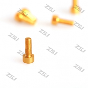 Wholesale 7075 Gold M3X12MM  Socket Aluminum Bolts,hex cap head aluminum screws for RC Drone / Quadcopters,50pcs/lot
