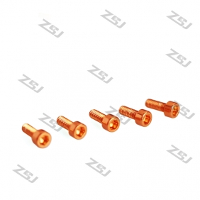 Wholesale 7075 Orange color M3X6MM  Aluminum Socket Bolts,cap head aluminum screws for RC Drone / Quadcopters,50pcs/lot