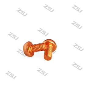 Wholesale 7075 Orange M3X10MM  Aluminum Botton Bolts,Round Head aluminum screws for RC Drone / Quadcopters,50pcs/lot