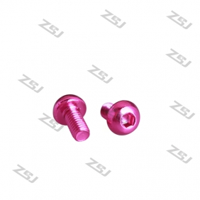 Wholesale 7075 Pink M3X12MM Aluminum Botton Bolts,Round Head aluminum screws for RC Drone / Quadcopters,50pcs/lot
