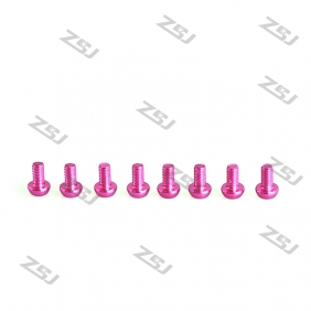 Wholesale Pink M3X8MM Aluminum Botton Bolts,Round Head aluminum screws for RC Drone / Quadcopters,10pcs/lot