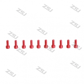 Wholesale 7075 M3X10M  Red color Socket Aluminum Bolts,cap head aluminum screws for RC Drone / Quadcopters,50pcs/lot