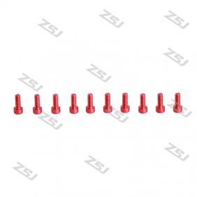 Red M2X6MM Socket Aluminum Bolts,hex cap head aluminum screws for RC Drone / Quadcopters,10pcs/lot