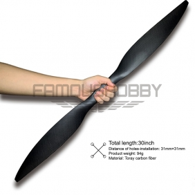 New Upgrading 30 inch Toray Carbon Fiber Propellers for RC drone/Multicopter 1pair/pc