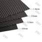 Wholesale FCRP038 400X250X2.0mm 100%/full/pure twill matte finished carbon